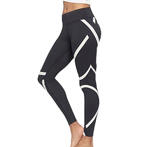 Damark Pantalones deportivas Mujer Pantalones Yoga Leggins Largos Deportivos Empalme Leggings para Running, Yoga y Ejercicio