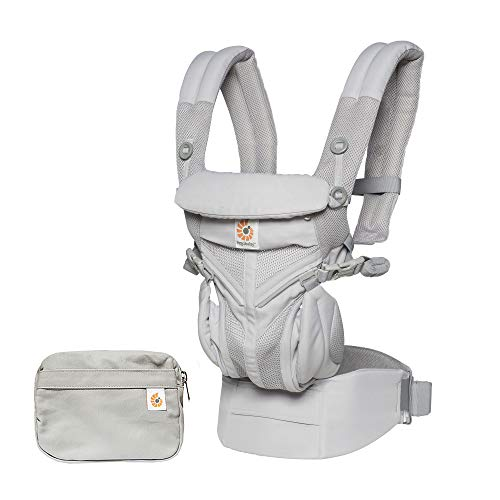 Ergobaby Baby Carrier for Newborn to Toddler, 4-Position Omni 360 Cool Air Mesh Ergonomic Child Carrier Backpack (Pearl Grey)