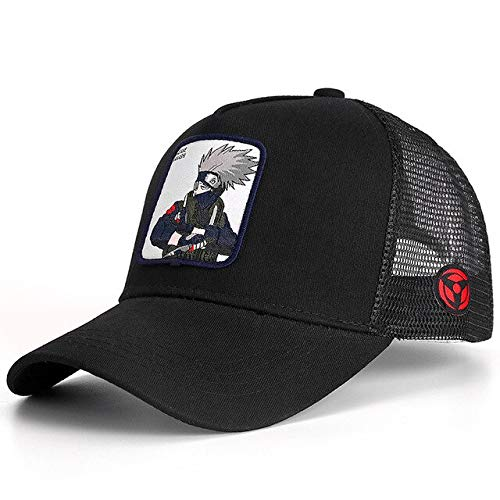 Neueste Mesh Cap Trucker Hat Gebogene Krempe Baseball Cap Gorras Casquette-Hatake KAKASHI-54cm-62cm