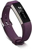 TERSELY Band for Fitbit Alta & Alta HR, Classic Soft TPU Silicone Unisex Adjustable Sports Bands Fitness Exercises...