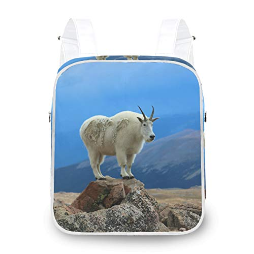 CPYang Women Backpack Animal Mountain Goat Shoulder School Bag Casual Daypack Backpack Purse Convertible for Girls Ladies