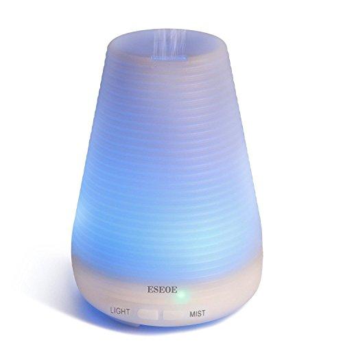ESEOE Ultraschall-Diffusor, 100 ml, automatische Abschaltung, LED, bunter Öldiffusor, für Zuhause, Büro, Reisen Typ#1