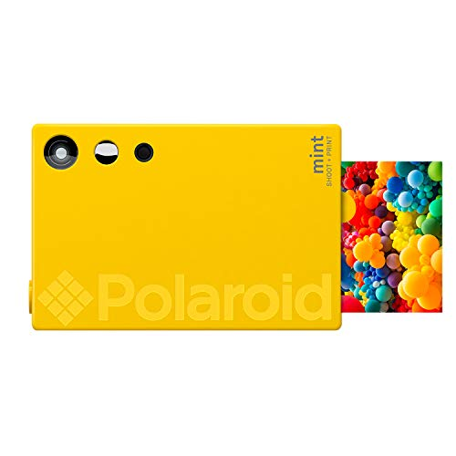 Polaroid Mint Sofortdruck-Digitalkamera (Gelb), Druck auf Zink 2x3 Fotopapier mit festhaftender Rückseite