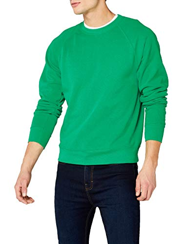 Fruit of the Loom Herren Sweatshirt Gr. L (Herstellergröße: Large) Grün - Kelly Green