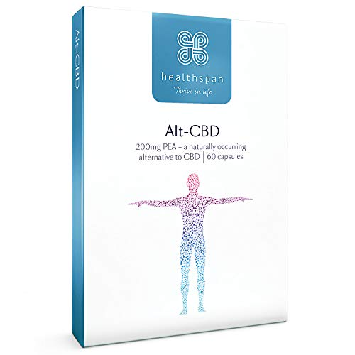 Alt-CBD | Healthspan | 60 Capsules | Alternative to CBD | Same Great Benefits | Naturally Occurring P.E.A. | Added Vitamins C & D | Free from Cannabinoids | No Traces of THC | Vegetarian