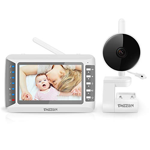 TMEZON Babyphone mit Kamera, Baby Monitor Video Überwachung mit 4.3