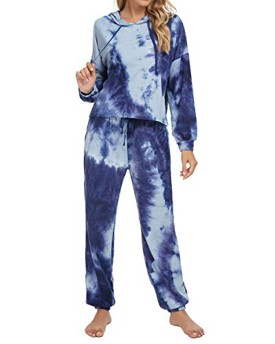 Unifizz Trainingsanzüge Damen Set Retro Sportanzug Jogginganzug für Frauen Outfits Kurzarm/Lange Ärmel Tops Pullover & Sweatpants Yoga Joggers