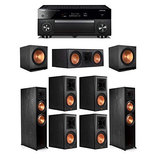 Review Klipsch7.2.2 Ebony System - 2 RP-8060FA,1 RP-600C,4 RP-600M,2 SPL-150,1 RX-A1080 Receiver