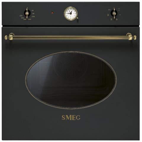 Smeg SF800AO - Horno (Medio, Horno eléctrico, 72 L, 72 L, 250 °C, 1 estanterías)
