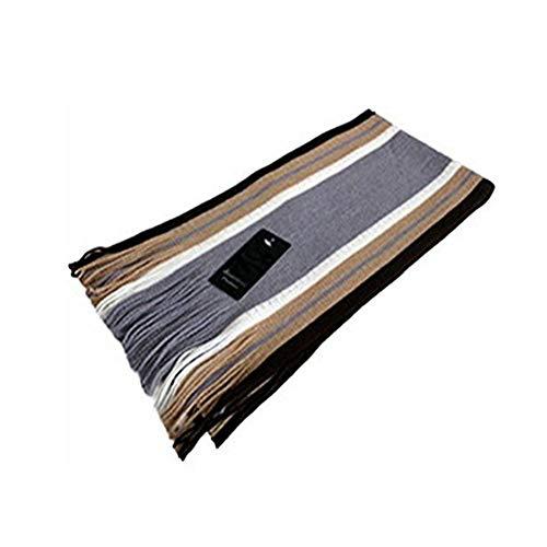 Demarkt Couvre-Écharpe d'Homme en Acrylique et Cachemire Taille: 180CM(L)*26CM(W) (gris clair)