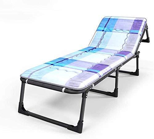WXQ Tumbona reclinable Silla de jardín Tumbona Silla de jardín Plegable Tumbona y Cojines para Personas Pesadas Silla portátil para Acampar en la Playa al Aire Libre (Color de Seis Patas estánda