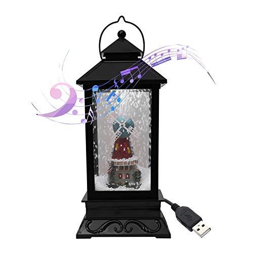 Linterna de Nieve Musical de Navidad Enchufe USB en Leds de batería LED Luces de Hadas Lámpara Papá Noel en Forma de iluminación Colgante (Color: c) DSB (Color : D)