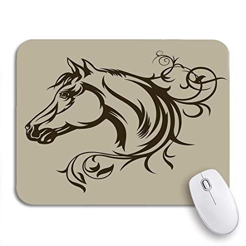 Gaming mouse pad kopf symbol tattoo pferd silhouette wild pride tier schwarz rutschfeste gummi backing mousepad für notebooks computer maus matten