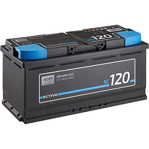 ECTIVE 12V 120Ah zyklenfester AGM Blei-Akku Versorgungsbatterie VRLA Semi Cycle SC120 wartungsfrei
