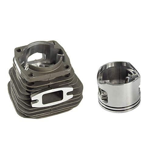 BESTOMZ Juegos de ensamblaje de pistón con Cilindro de 52 CC y 45 mm para cortacésped Motosierra Reconstrucción de Motor Parte de Repuesto