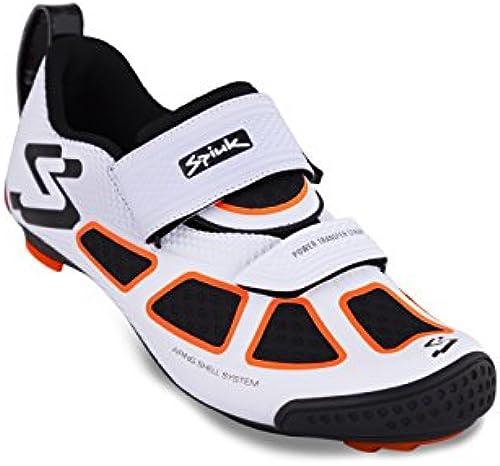 Spiuk Trivium Triathlon Schuh, Unisex Erwachsene 39 Weiß Orange Schwarz