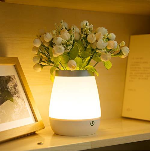Creatieve Touch vaas Nachtlampje Slaapkamer Nachtlampje dimbaar Lichtlamp Rose Potted Bloem vuur lamp