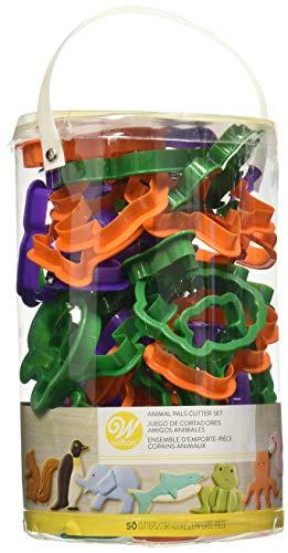 Wilton Set 50 Tagliapasta Animali, Plastica