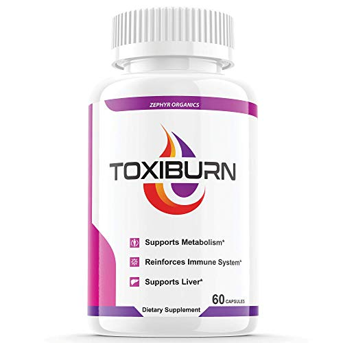 Toxiburn Weight Loss Pills Liver Cleanse Diet Capsules Supplements Reviews Toxi Burn Advanced Pills (60 Capsules)