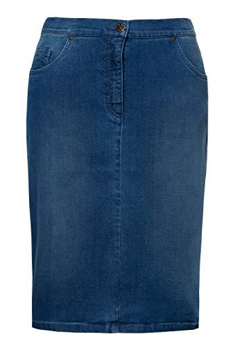 Ulla Popken Damen große Größen Übergrößen Plus Size Jeansrock Blue Denim 46 747416 92-46