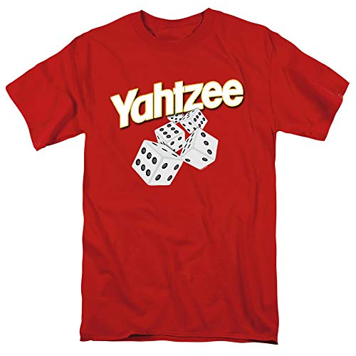 Yahtzee Tumbling Dice Unisex Adult T Shirt for Men and Women, Red, Small