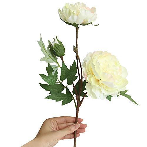JERFER Soie Artificielle Faux Fleurs Pivoine Floral Bouquet De Mariée Décor De Mariée Hortensia