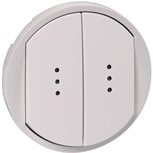 Enjoliveur Céliane pour double interrupteur, Va-et-Vient ou poussoir à voyant - Titane - 068304 - Legrand
