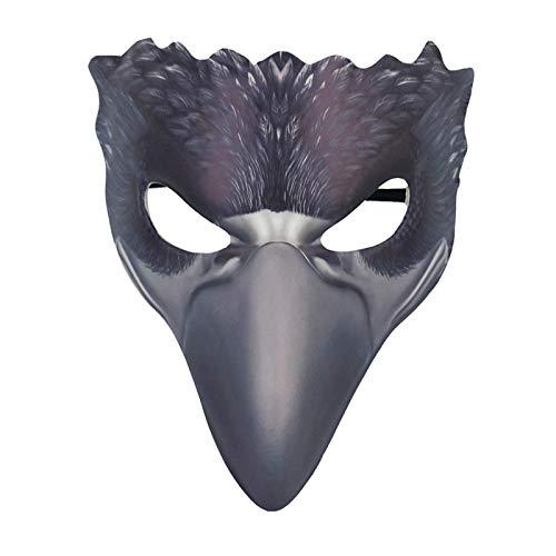 WWWL Máscara de Halloween de Pájaro Animal Cuervo Máscaras 3D tridimensionales de espuma de PU Halloween Carnaval Mascarada Disfraz de Fiesta Máscaras IS0409A