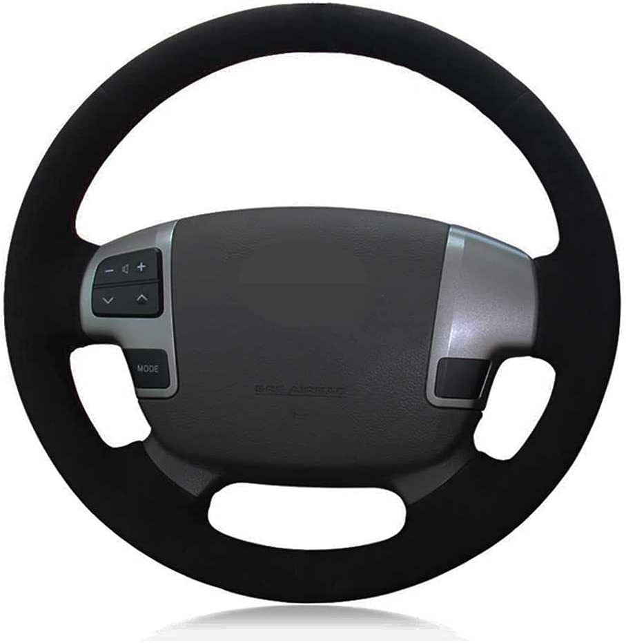SAXTZDS Car Black Steering Wheel Fort Worth Mall Cover Cruis Toyota New York Mall Fit for Land