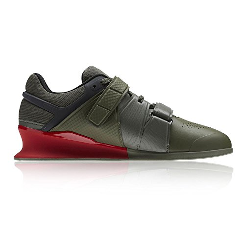 REEBOK Legacy Lifter Chaussure Haltérophilie - Homme - Vert (Hunter Green / Coal / Primal Red / Chalk), 48.5 EU