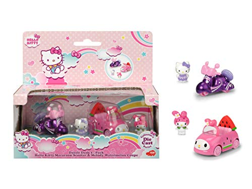 Smoby- Hello Kitty-Scooter Macaron + Melody coloré (Simba 7/253242003)