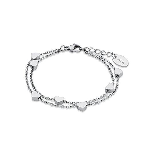 s.Oliver Armkette für Mädchen Herz, Edelstahl