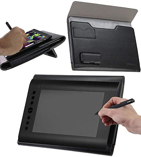 Broonel Custodia per Tablet Grafica in Pelle con Supporto Ergonomico Integrato Compatibile con UGEE HK1560