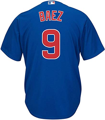 Outerstuff Javier Baez Chicago Cubs Kids 4-7 Blue Alternate Cool Base Player Jersey (5/6)