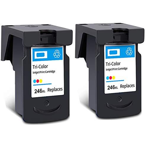 Cartucho de tinta PG-245XL CL-246XL, reemplazo de alto rendimiento para Canon PIXMA MG2920 MG2520 MG2922 MX492 TS202 TS302 TS302 TR4520 Impresora Negro y tri-color 2 Tri-Color