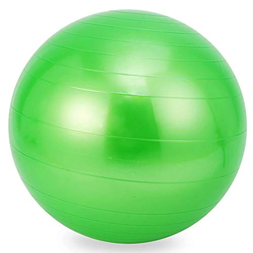Bola de Yoga Bola de Yoga Fitness Gimnasia Bola Sensor de Entrenamiento Integral, PVC Diámetro de Bola de Yoga 65 cm,Verde