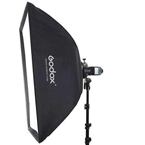 Godox SGUV6060 Kit de Accesorios para Flash Incluye Soporte Speedlite S2 y Softbox para Flash de Cabeza Redonda y Cuadrada de Godox AD400PRO, V1, AD200, V860II Series, TT685 Series , TT350 Series, etc