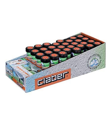 Claber 90004 - Pop-up regolabile da 0° a 350°; escursione dal terreno di 2', colore Nero