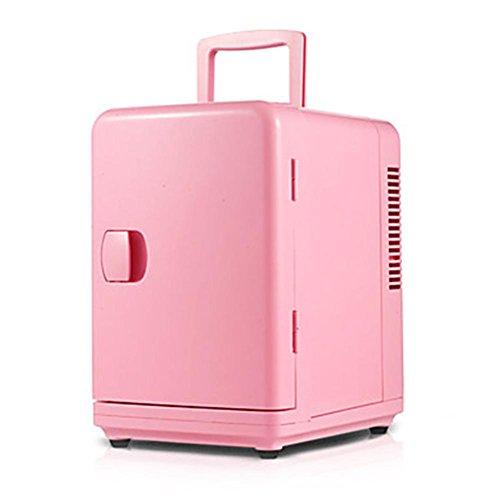 MTTLS Frigorifero portatile6L mini auto frigorifero di casa a duplice uso rosa