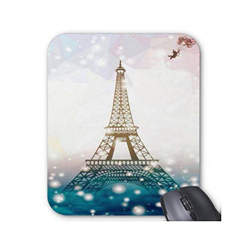 Gaming Mouse Pad Eiffel Tower Design for Desktop and Laptop 1 Pack 22x18cm/8.66x7in