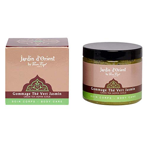 Gommage exfoliant Jasmin Thé vert - Jardin d'Orient par Perron Rigot - Soin spa pour le corps - Rituel du hammam - Peau nette, douce et souple - Pot 200 ml