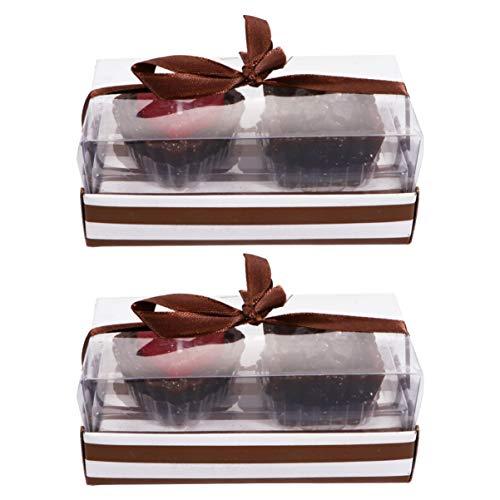 Amosfun 4Pcs Paraffin Hochzeit Kerzen Herz Schokoladenform Brennende Kerzen Romantische Kerzen Geschenk für Hochzeitsfest Dekor