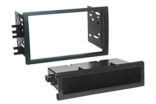 Scosche NN1643B Compatible with 2008-12 Nissan Titan ISO Double DIN & DIN+Pocket Dash Kit, Manual A/C Controls, Non-Navigation Black