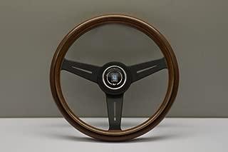 Nardi Steering Wheel - Classic - 340mm (13.39) - Wood with Black Spokes - Black Aluminum Center Ring - Part # 5061.34.2000