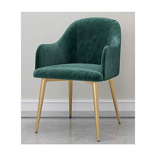 KOKOF stoel bureaustoel, metalen poten woonkamer stoel, massief hout stoel, keuken stoelen, fauteuil, woonkamer stoel, vrije tijd stoelen, make-up stoel, met rugleuning en armleuningen, eenvoudige stijl
