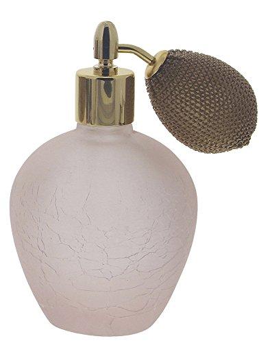 Parfümflakon Zerstäuber, Glas 120ml Flakon Kosmetex, kugelförmig mit Ballpumpe, leer, rund