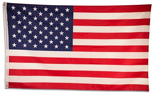 SCAMODA Bundes- und Länderflagge aus wetterfestem Material mit Metallösen (USA) 150x90cm