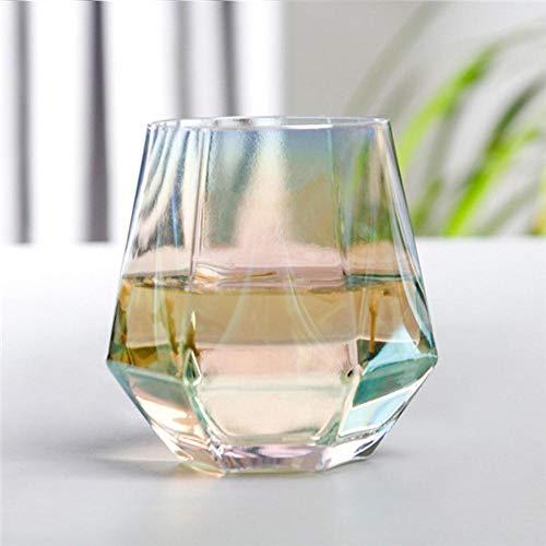 Sgualie Geometry Glas Beker Gouden Rand Transparant Wijnglas