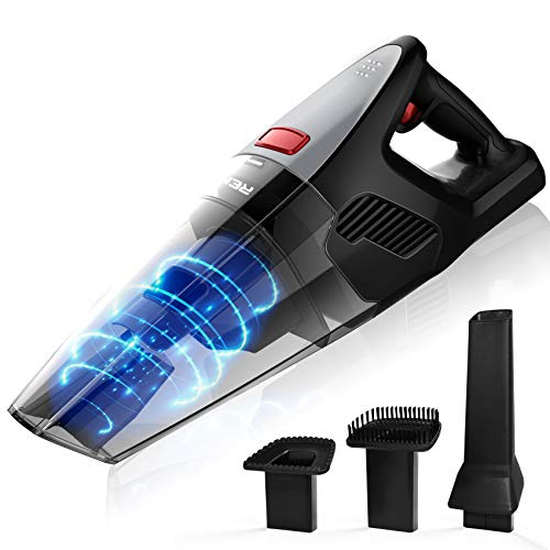 Rends Handheld Vacuum, Portable Hand Vacuum Cordless with 8KPA Powerful Cyclonic Suction, Lightweight Dry Vac Powered with Rechargeable Quick Charge for Pet Hair, Dust, Home and Car Cleaning (Black)