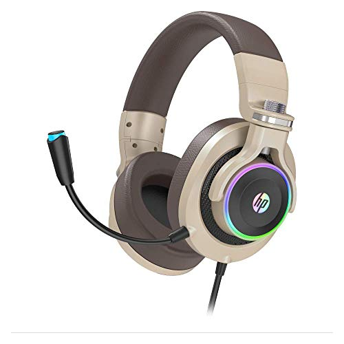 HP Wired Gaming Headphones Xbox One Headset with 7.1 Surround Sound, RGB LED Lighting, Noise isolating Over Ear Gaming Headset with Adjustable Mic, for PS4, Xbox One, Nintendo Switch, PC, Mac, Laptop